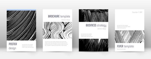 Cover page design template. Minimalistic brochure