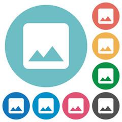 Single image flat round icons