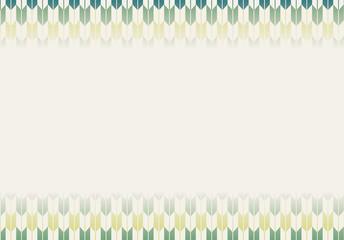 和柄背景|伝統模様 矢絣文様 横|文字スペース 緑系