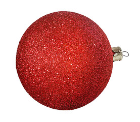 red christmas ball, isolated on white