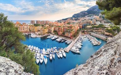 Luxury Monaco-Ville harbour of Monaco, Cote d'Azur