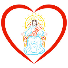 Lord Jesus ruling in the heart, Blessing of the Heavenly King