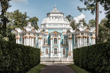 Pavilion Hermitage in Tsarskoe Selo. St. Petersburg, Russia. Hermitage Pavilion in Catherine park in Tsarskoe Selo, Pushkin, Saint Petersburg, Russia. Travel around St. Petersburg
