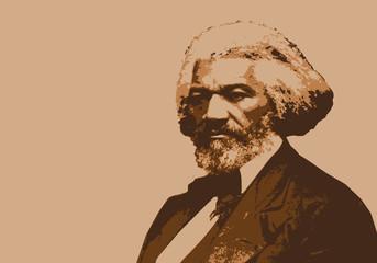 Frederick Douglass, célèbre orateur américain, abolitionniste de l'esclavage