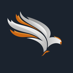 Eagle emblem, falcon logo