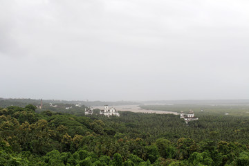 The view of Old Goa (Goa Velha) as seen from the hill of The Church of Our Lady of the Mount