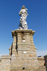 Notre Dame des Naufragés monument - Pointe du Raz - Plogoff, Finistère, Brittany, France