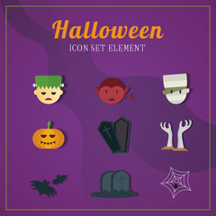 Halloween icon illustrations element set two