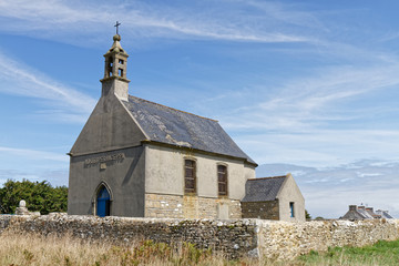 Church in Ouessant Island - Finistère, Brittany, France Wall mural