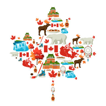 Canada background design.