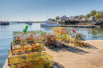 Lobster Traps on Dock