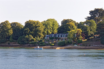 Manor in the gulf of Morbihan - Brittany, France