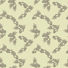 UFO military camouflage seamless pattern in different shades of green color