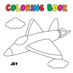 Jet coloring page, coloring book