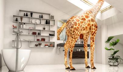 Außergewöhnliche Giraffenwohnung (BAD)