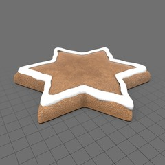 Gingerbread star cookie