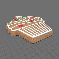 Gingerbread cupcake cookie