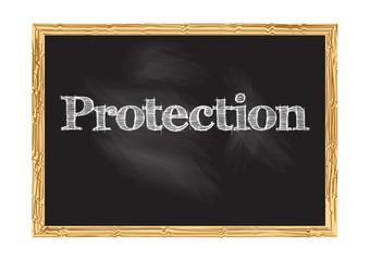 Protection blackboard notice Vector illustration for design