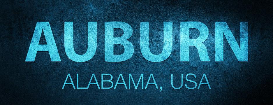 Auburn. Alabama. USA special blue banner background
