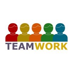 Teamwork concept with success people team