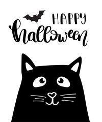 Illustration of Halloween kitten
