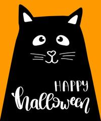 Illustration of Halloween kitten