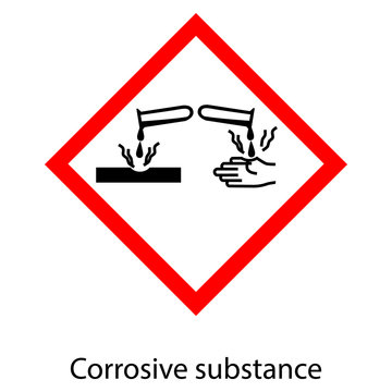 Corrosive substance vector