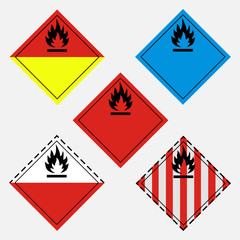 Hazard sign set