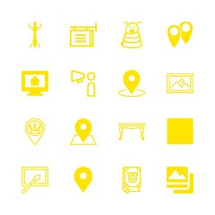 16 poster icons with placeholder and photo painting in this set