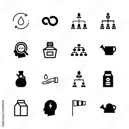 Flow Icons Set With Organization Air Sock Weather Symbol For Winds