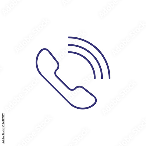 Phone line icon  Telephone, speaker, cell  Communication