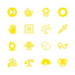 body icons set with male hand shape, x ray and dropper vector set