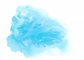 Sky blue watercolor gradient running stain. This abstract background is useful for graphic design, backdrops, prints, wallpaper and etc.