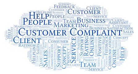 Customer Complaint word cloud.