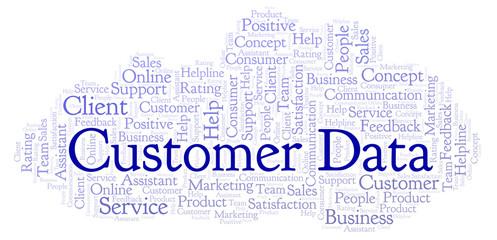 Customer Data word cloud.
