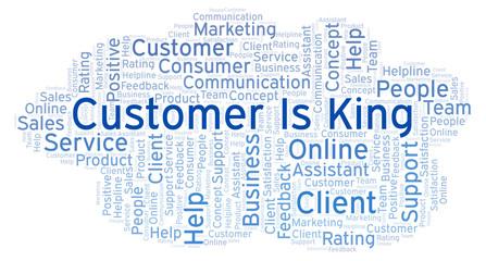 Customer Is King word cloud.
