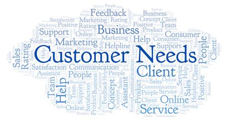 Customer Needs word cloud.