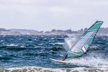 windsurfer on sea