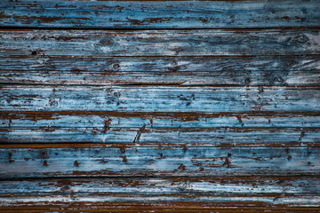 Texture worn scratched wooden blue wall