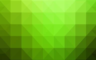 Light Green vector polygon abstract backdrop.