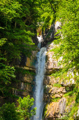 Wall Mural - Waterfall mountain. Austrian Alps,  Salzkammergut, Austria, Europe