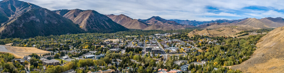 Ketchum Idaho Panoramic in Autumn Fototapete