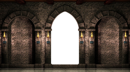 Arches and gate isolated