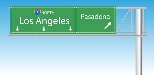 Los Angeles freeway sign