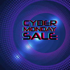 Cyber Monday Sale vector banner. Modern typography.