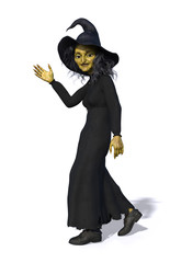Toon Witch Waving