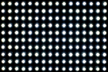 diode lamps on black background