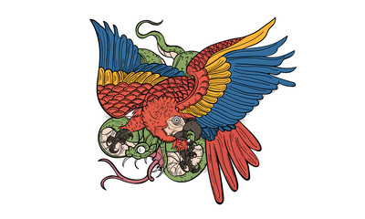 Parrot and Snake