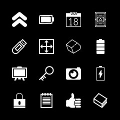 close icons set with photo camera, double up arrow and locked vector set
