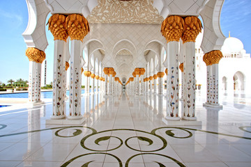 Sheikh Zayed Grand Mosque in Abu Dhabi Interior